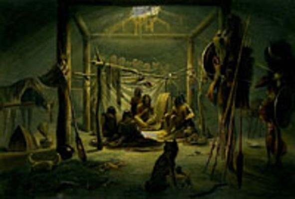 """Interior of the Hut of the Mandan Chief"" | Ken Burns: Lewis & Clark"