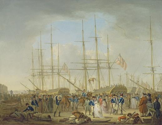 Hussars Embarking at Deptford