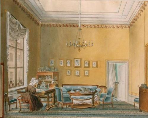 Interior of Boratynsky's House in Moscow, 1830s