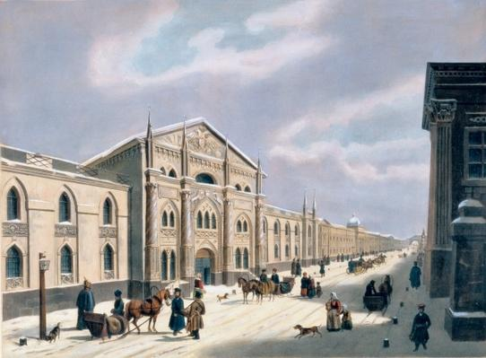The Synodal Printing house at Nikolyskaya street on Moscow, 1840s