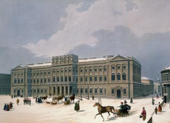 Palace of the Grand Duke of Leuchtenberg in St. Petersburg, printed by Lemercier, Paris, 1840s