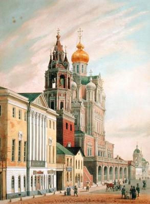 The Assumption Church at Pokrovskaya street in Moscow, printed by Lemercier, Paris, 1840s