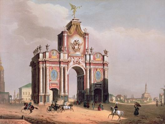 The Red Gate in Moscow, printed by Lemercier, Paris, 1840s