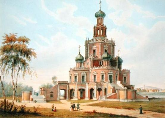 The Protection of the Virgin Church in Moscow, 1840s