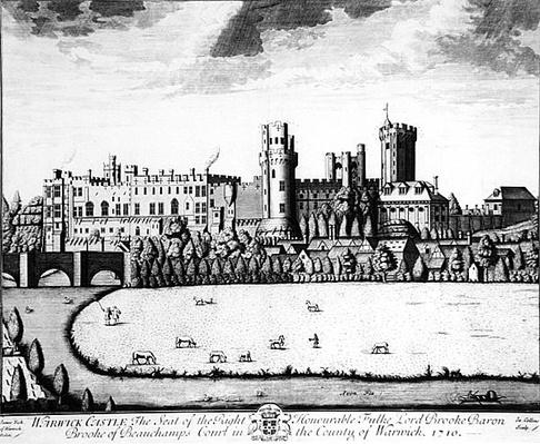 Warwick Castle, the Seat of Lord Brooke, Baron Brooke of Beauchamps Court, 1710