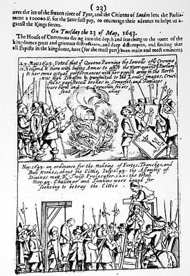 Chronicle of significant events during the English Civil War