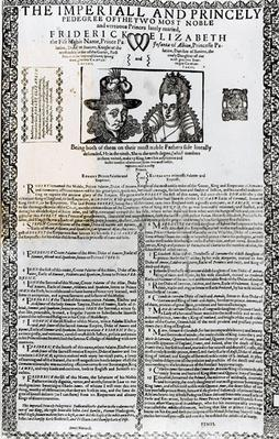 Declaration of the marriage of Frederick V and Elizabeth of Bohemia