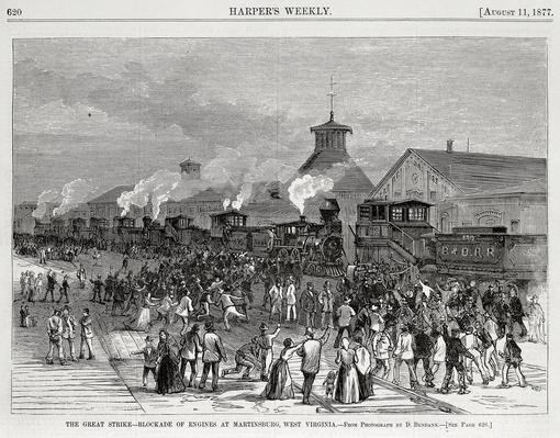 The Great Railway Strike, Martinsburg, West Virginia | Industrial Revolution