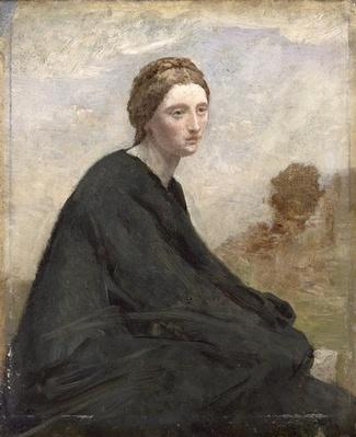 The brooding girl, c.1857