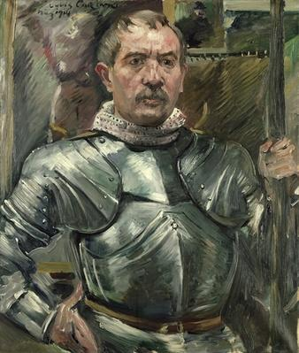 Self portrait in armour, 1914