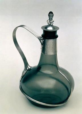 Decanter with silver mounts, c.1904-5