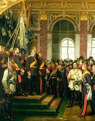 The Proclamation of Wilhelm as Kaiser of the new German Reich, in the Hall of Mirrors at Versailles on 18th January 1871, painted 1885