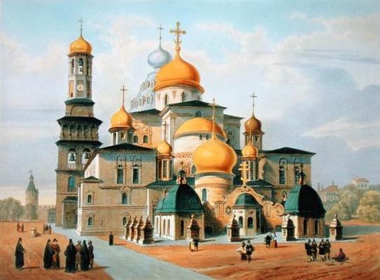 Novy Ierusalem near Moscow, printed by Louis-Pierre-Alphonse Bichebois