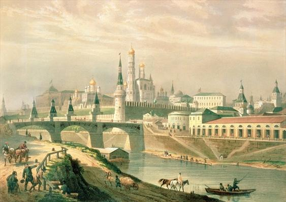 View of the Moscow Kremlin, 1830
