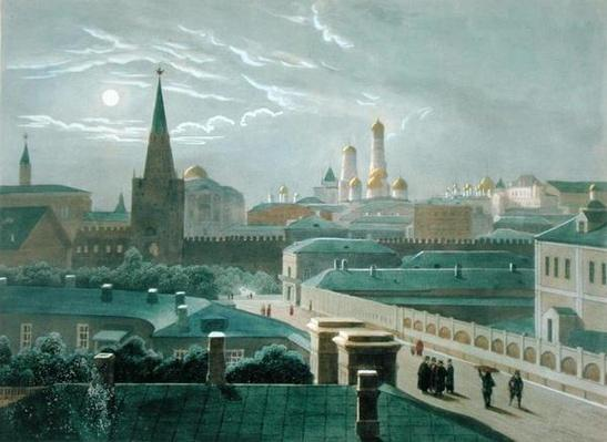 View of the Moscow Kremlin, 1840's