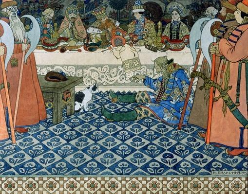 Illustration for Alexander Pushkin's 'Fairytale of the Tsar Saltan', 1905