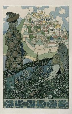 Illustration for Alexander Pushkin's 'Fairytale of the Tsar Saltan', 1905
