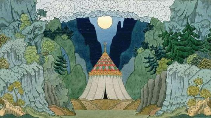Sketch for the opera, 'The Golden Cockerel', by Nikolai Rimsky-Korsakov