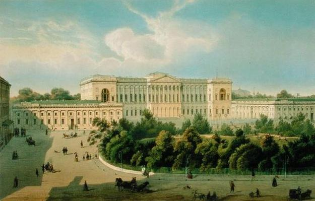 Palace of Grand Duke Mikhail, View from the Square, printed by Schmidt and Chevalier, published by Lemercier, Paris, 1850s