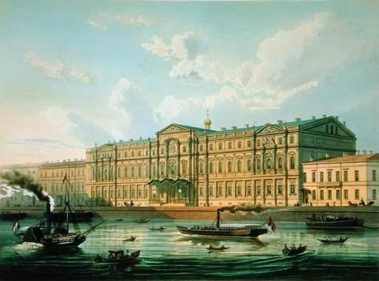 Palace of Grand Duke Mikhail and Palace Embankment, printed by Jacottet and Bachelier, published by Lemercier, Paris, 1850s