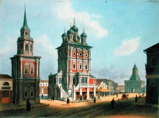 St. Nicolas Church at Ilynka Street in Moscow, 1840s