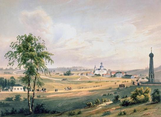 View of Borodino, the location of the decisive Battle, printed by J. Jacottet, published by Lemercier, Paris, 1830s