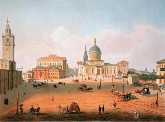 The Peter Palace in Moscow, printed by Jacottet and Bachelier, 1830