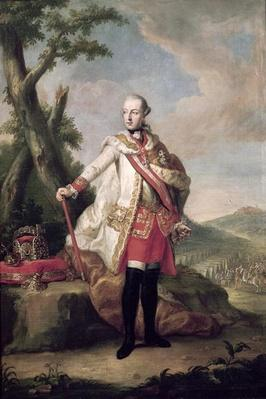 Full length portrait of Joseph II