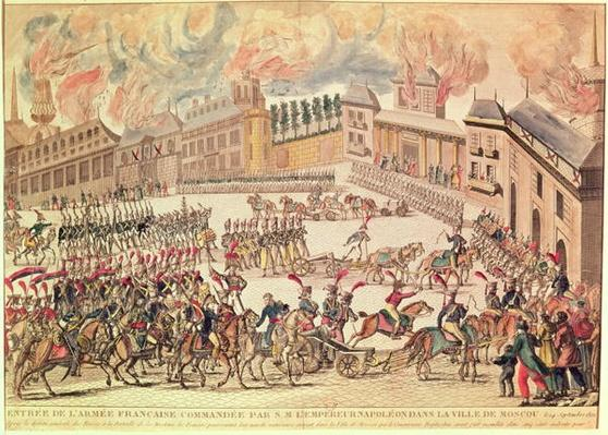 Entry of the French Army Commanded by Emperor Napoleon into Moscow, 14th September 1812