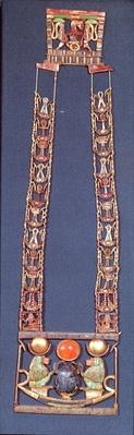 Necklace of the Rising Sun, from the tomb of Tutankhamun