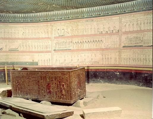 Interior of the tomb of Tuthmosis III