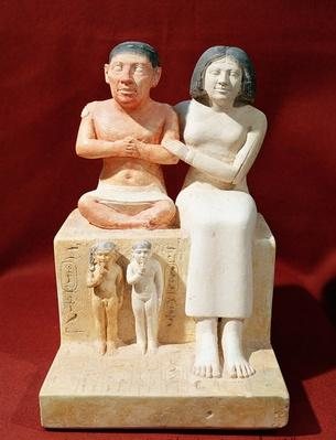 Statuette of the dwarf Seneb and his family, c.2475 BC