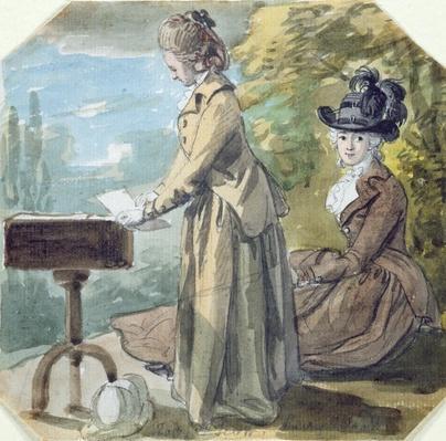 Lady Francis Scott and Lady Elliot, c.1770