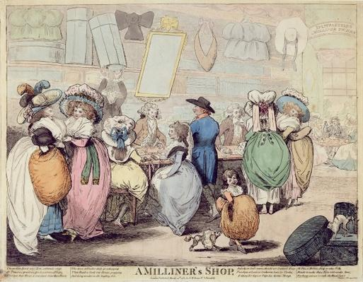 A Milliner's Shop, published in 1787