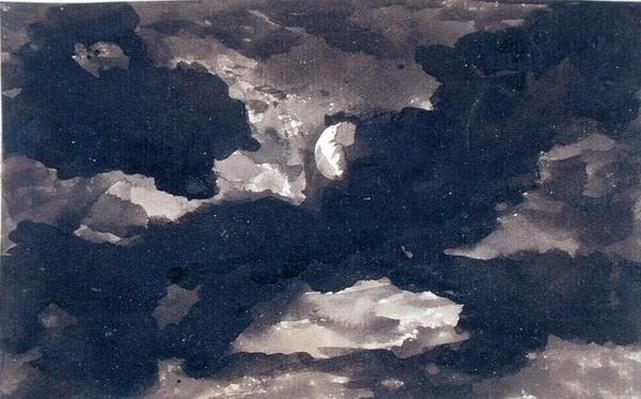 Study of a Clouded Moonlit Sky