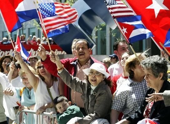 Cuban Day Parade IN NEW YORK CITY | U.S. Immigration | 1840's to present | U.S. History