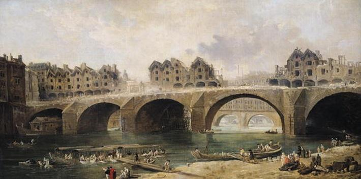 Demolition of the Houses on the Notre-Dame Bridge, c.1786