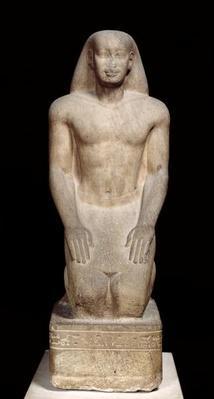 Statue of Nakhtorheb kneeling, Saite Period, c.595-589 BC