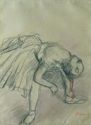 Dancer Fixing her Slipper, c.1865