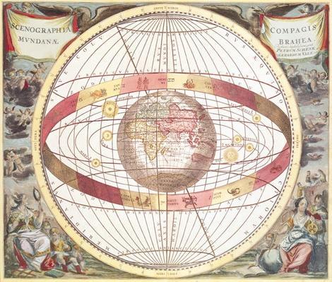 Planisphere, from 'Atlas Coelestis', engraved by Pieter Schenk