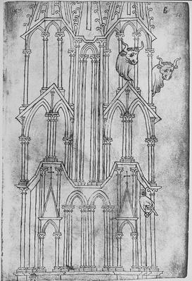 Elevation of the tower of Laon Cathedral