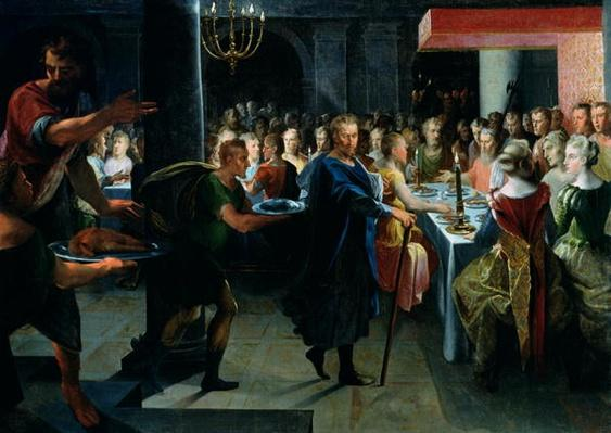 Dice Offering a Banquet to Francus, in the Presence of Hyante and Climene, from 'La Franciade' by Pierre de Ronsard
