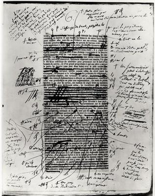 Page from one of Balzac's works with handwritten corrections