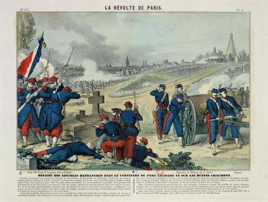 Defeat of the Rebels Entrenched in the Cemetery of Pere Lachaise and on Chaumont Hill, 1871