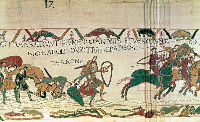Harold Drags Soldiers from the Quicksand, from The Bayeux Tapestry
