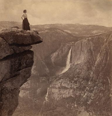 Tourist at Glacier Point, Yosemite National Park, ca. 1902 | Ken Burns: The National Parks