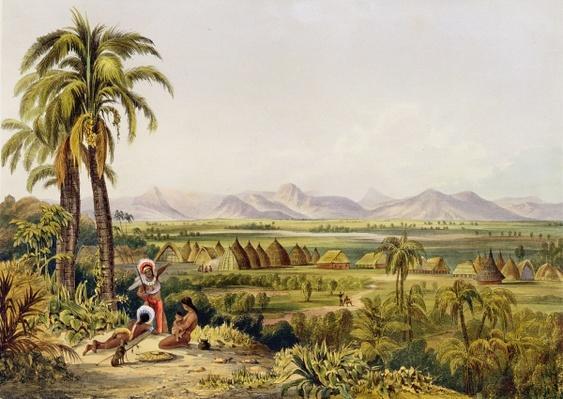 Pirara and Lake Amucu, The Site of Eldorado, printed by Georges Barnard, from 'Twelve Views in the Interior of Guiana', by Robert Herman Schomburgk