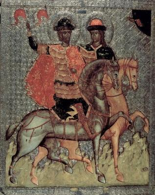St. Boris and St. Gleb Mounted, c.1377