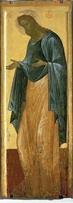 St. John the Forerunner, from the Deisis tier of the Dormition Cathedral in Vladimir