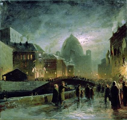 Illuminations in St. Petersburg, 1869